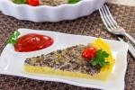 Запеканка с грибами и картофельным пюре