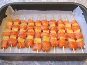 Шашлычки «Домашние» с куриным филе и ананасами