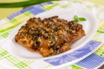 Свинина, маринованная в соевом соусе и зеленом луке
