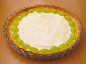 Пирог с желатином и фруктами