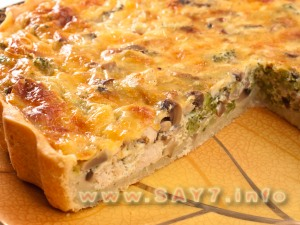 лоранский пирог с курицей и брокколи рецепт с пошагово