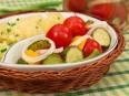 Черри, огурцы, болгарский перец маринованные по-быстрому