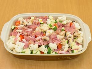 Овощная запеканка в беконе – кулинарный рецепт