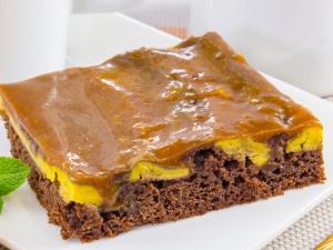 1197 0123461q 6842 p Рецепт: Шоколадный пирог с бананами и карамельным соусом